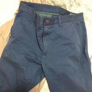 Bonobos Tailored Fit Chinos - Blue 34x32